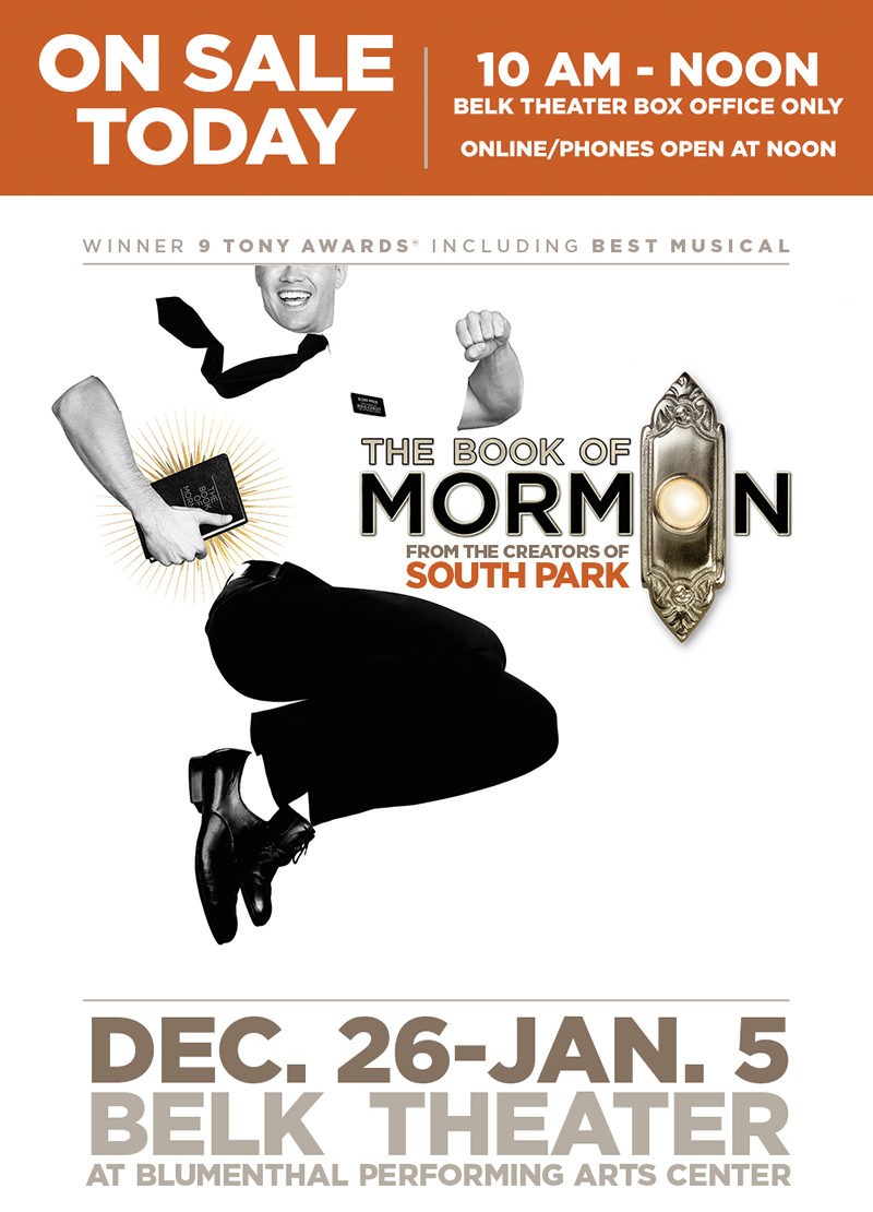 Blumenthal performing arts the book of mormon on sale - The book of mormon box office ...